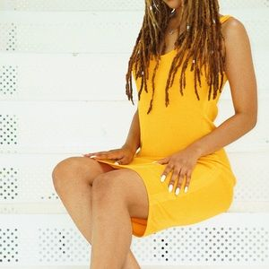 Yellow Ribbed Dress